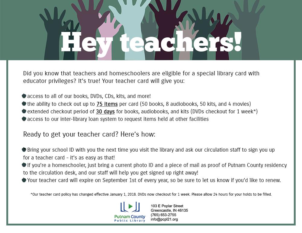 Teacher Card Info