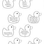 Rubber Ducky Readers June Game Sheet
